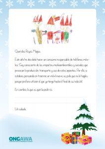 Carta a los Reyes Magos consumo responsable de móviles
